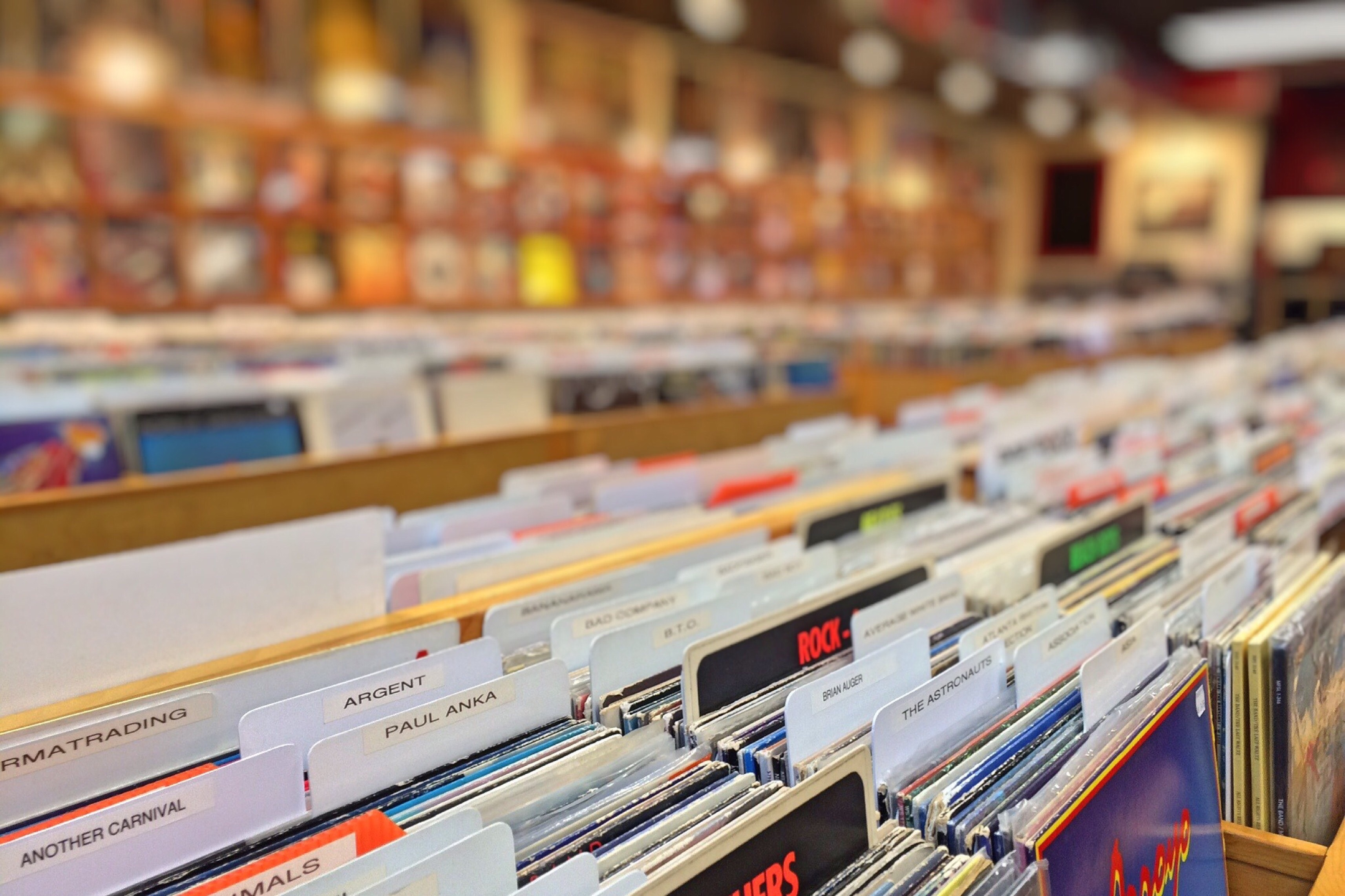 Musikaffär med skivor